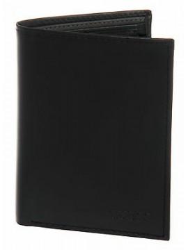 Portafoglio uomo pelle wallet GUESS a.SM0205 LEA51 cm 9,5x10,5 c.NERO BLACK