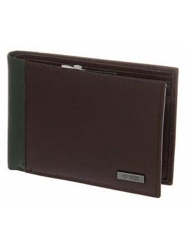 Portafoglio uomo pelle wallet GUESS a.SM3123 LEA20 cm 12,5x9,5 col.MARRONE