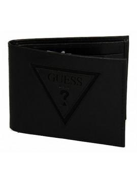 Portafoglio uomo pelle wallet GUESS a.SM3134 LEA27 cm.13x10 colore NERO