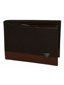 Portafoglio uomo pelle wallet GUESS a.SM3138 LEA20 cm.13x9 colore MARRONE