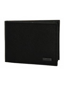 Portafoglio uomo pelle wallet GUESS art. SM3091 cm 13x10 colore BLA NERO BLACK