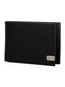 Portafoglio uomo pelle wallet GUESS art. SM3131 cm 12,5x9,5 colore NERO GRIGIO