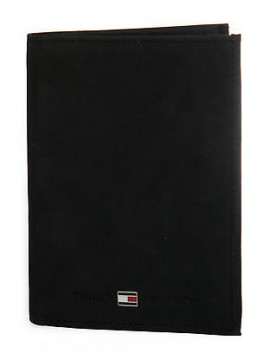 Portafoglio uomo pelle wallet TOMMY HILFIGER a. AM0AM01121 colore 002 NERO BLACK
