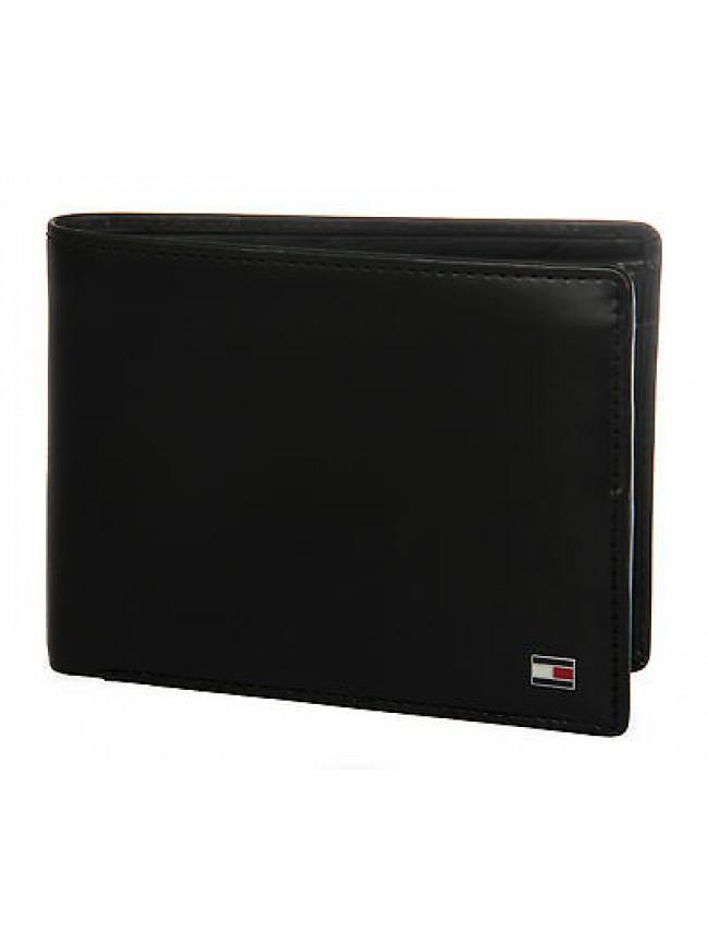 Portafoglio uomo pelle wallet TOMMY HILFIGER a. AM0AM01284 colore 002 NERO BLACK