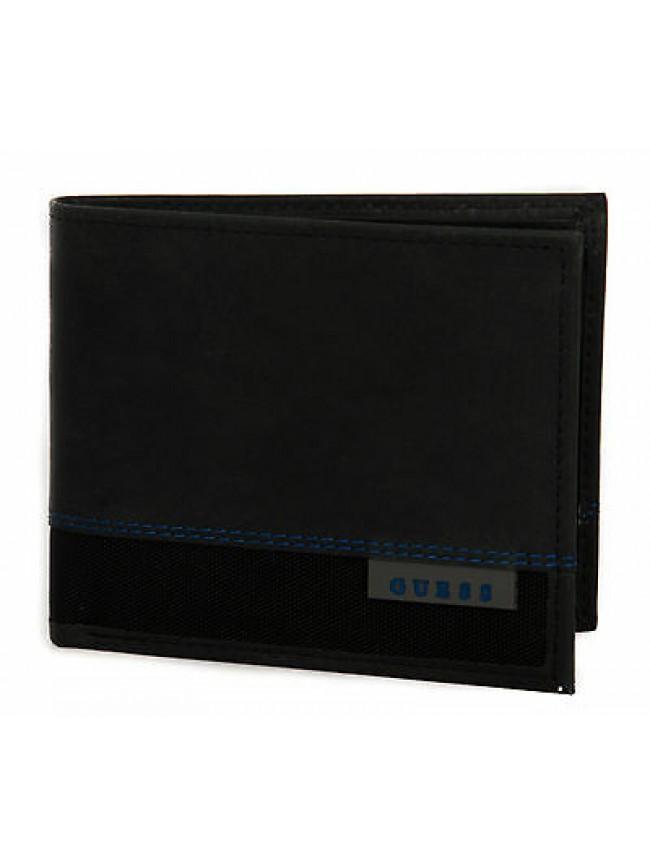 Portafoglio uomo wallet GUESS art. SM3008 LEA20 cm 12x9,5 colore BBL NERO BLACK