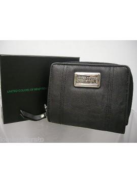 Portafoglio wallet cartera donna BENETTON Vinca 71130 col.001 nero black
