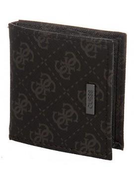 Portamonete borsello uomo wallet GUESS a.SM0206 LEA52 cm 8x8 col.MARRONE