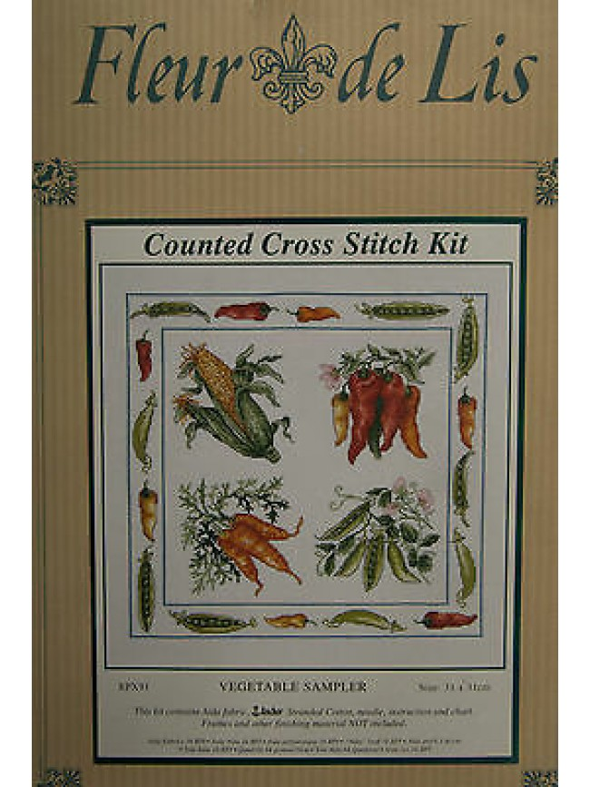 Quadro punto croce counted cross kit FLEUR DE LIS a.EPX91 c.VEGETABLE