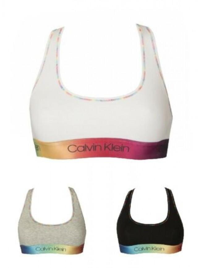 Reggiseno brassiere bralette donna elastico a vista sport CK CALVIN KLEIN artico