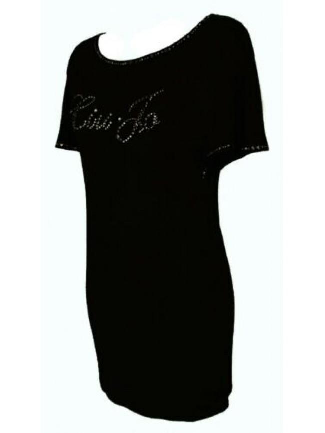 SG Abito donna manica corta vestito in jersey di viscosa mare spiaggia beachwear