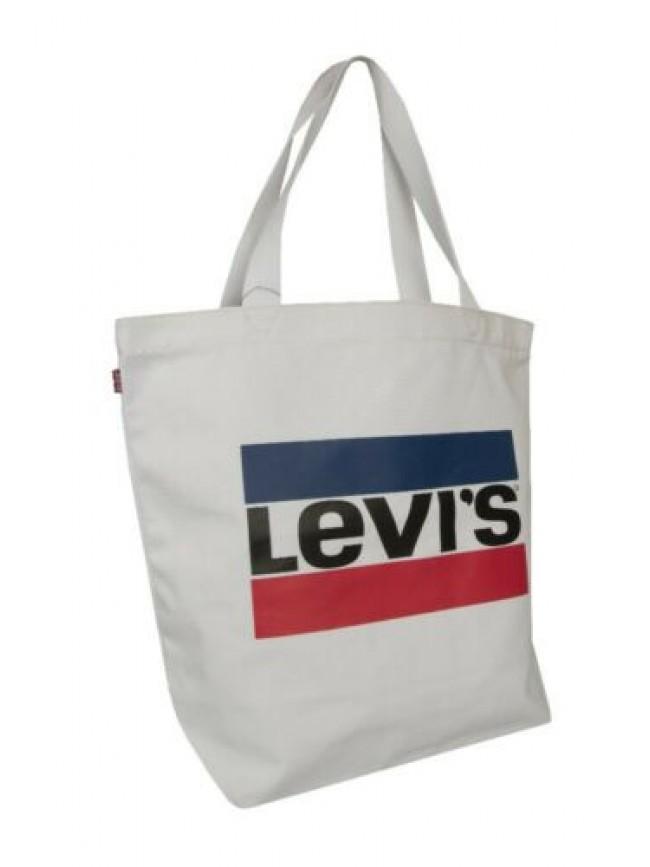 SG Borsa donna a mano e a spalla cotone LEVI'S articolo 228323 borsa logo tote -