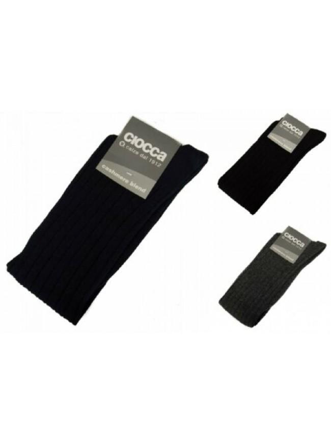 SG Calza calzino alto lungo uomo lana cashmere blend CIOCCA articolo 511 Made in