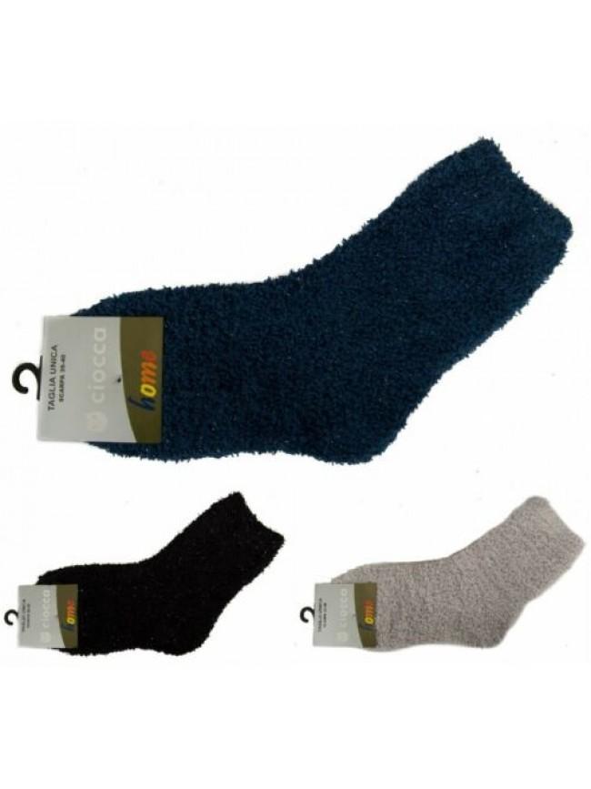 SG Calza calzino basso corto donna in ciniglia con lurex CIOCCA articolo 751/2