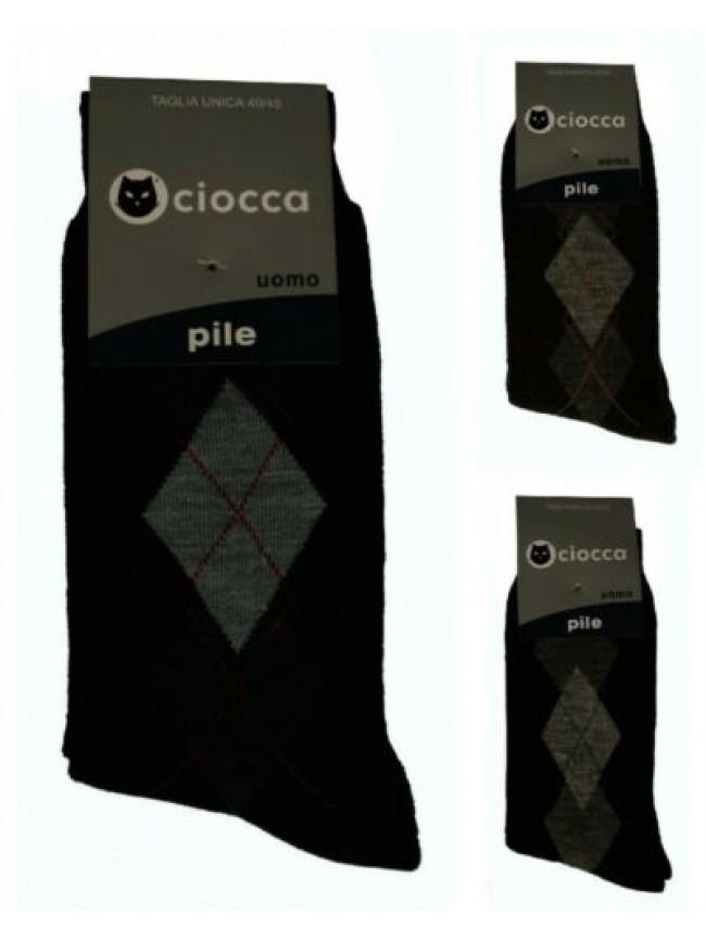 SG Calza calzino basso corto uomo calzini in caldo pile CIOCCA articolo 608/1 CA