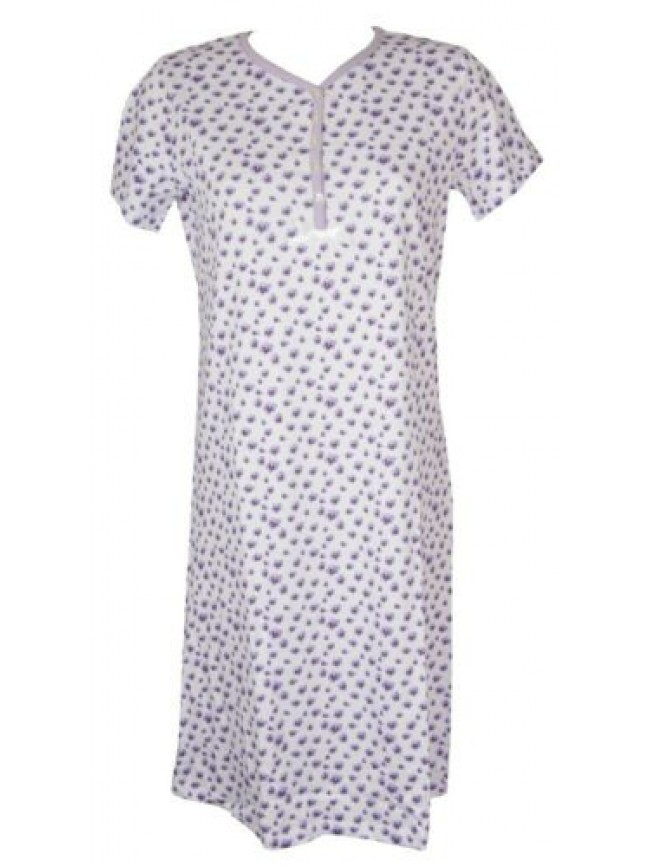 SG Camicia da notte donna cotone manica corta scollo serafino RAGNO articolo D25