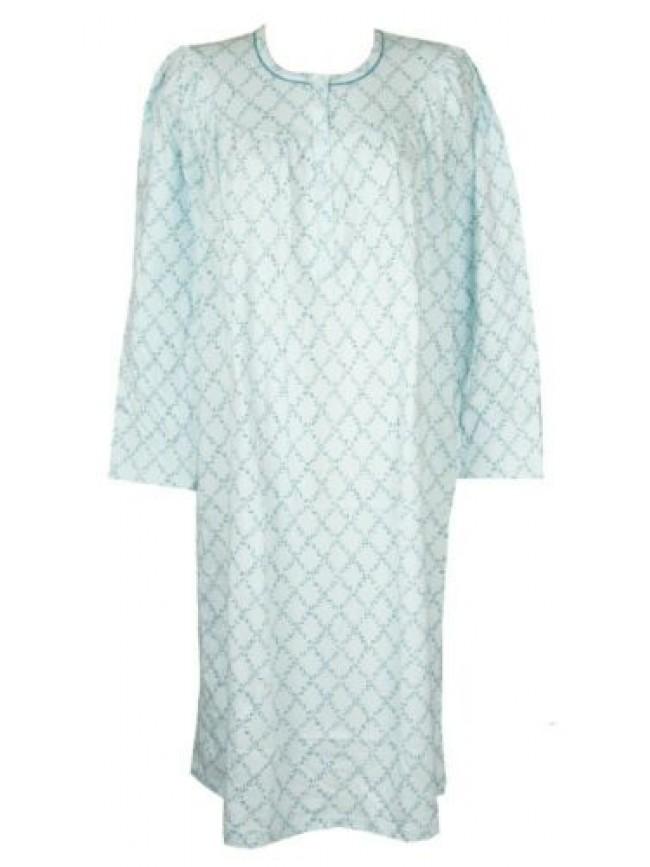 SG Camicia da notte donna interlock manica lunga scollo serafino LINCLALOR artic