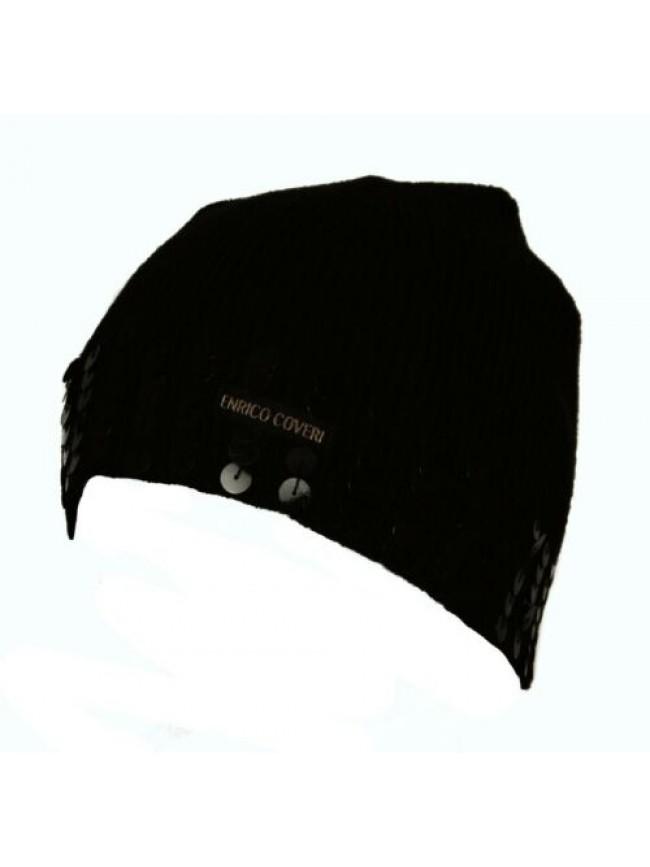 SG Cappello berretto con paillettes ENRICO COVERI articolo EC007 Made in Italy