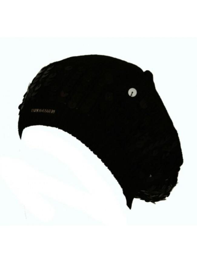 SG Cappello berretto con paillettes ENRICO COVERI articolo MC1333 Made in Italy