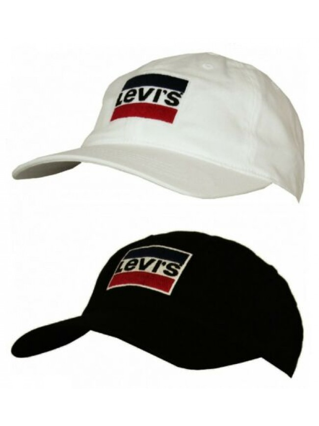 SG Cappello berretto con visiera uomo regolabile cotone LEVI'S articolo 228324