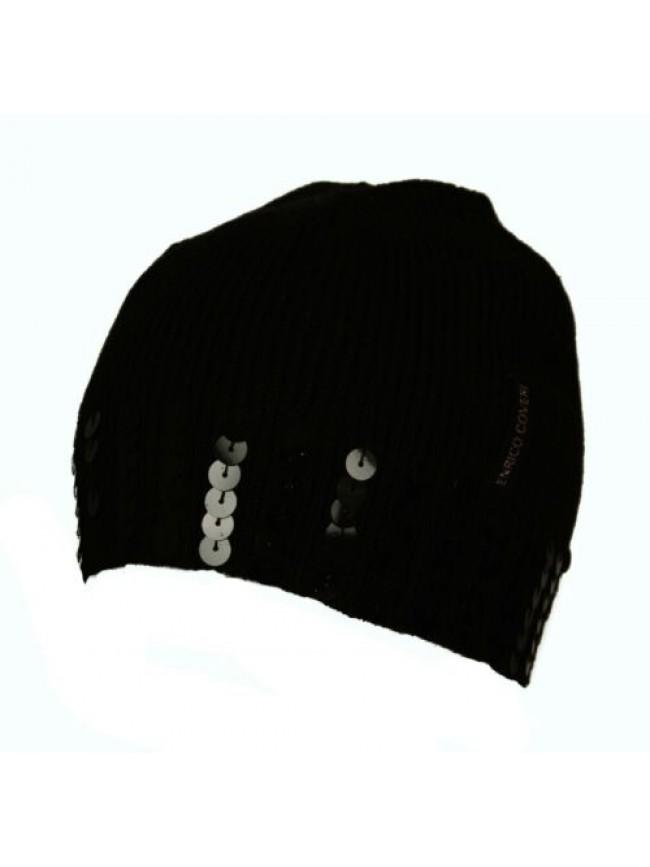 SG Cappello berretto cuffia con paillettes ENRICO COVERI articolo MC1332 Made in
