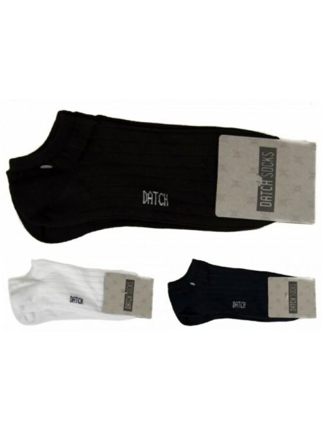 SG Confezione 2 paia calze girocaviglia con costina unisex cotone bipack DATCH a