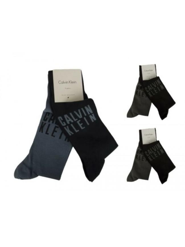 SG Confezione 2 paia calze uomo trunk cotone set calzini bipack CK CALVIN KLEIN