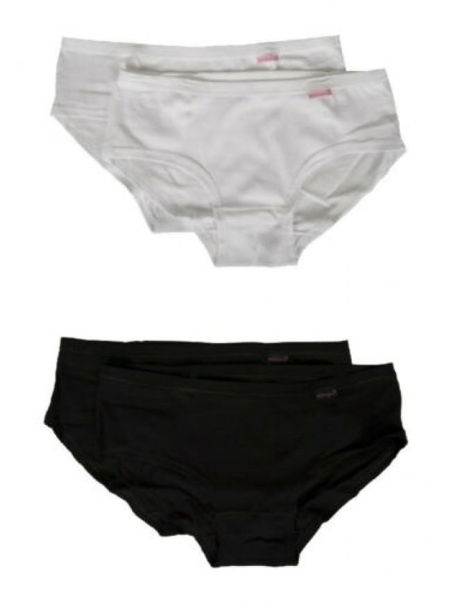SG Confezione 2 slip donna cotone costina bielastica bipack NOTTINGHAM articolo