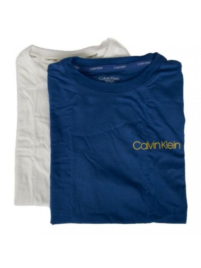 SG Confezione 2 t-shirt manica corta girocollo bimbo ragazzo bipack underwear CK