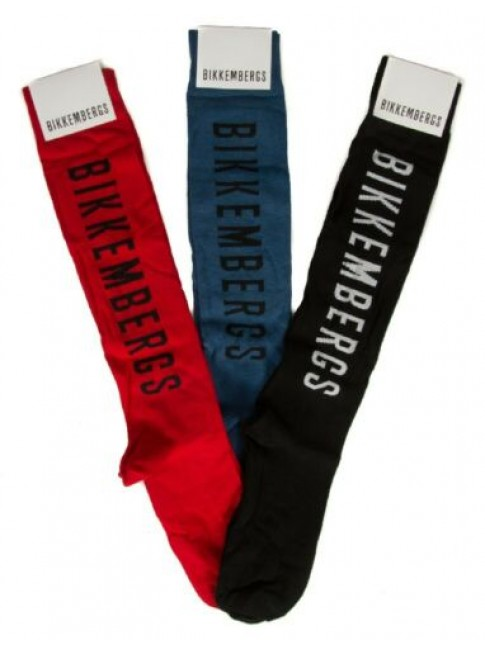 SG Confezione 3 paia calze lunghe uomo set regalo calzini tripack BIKKEMBERGS ar