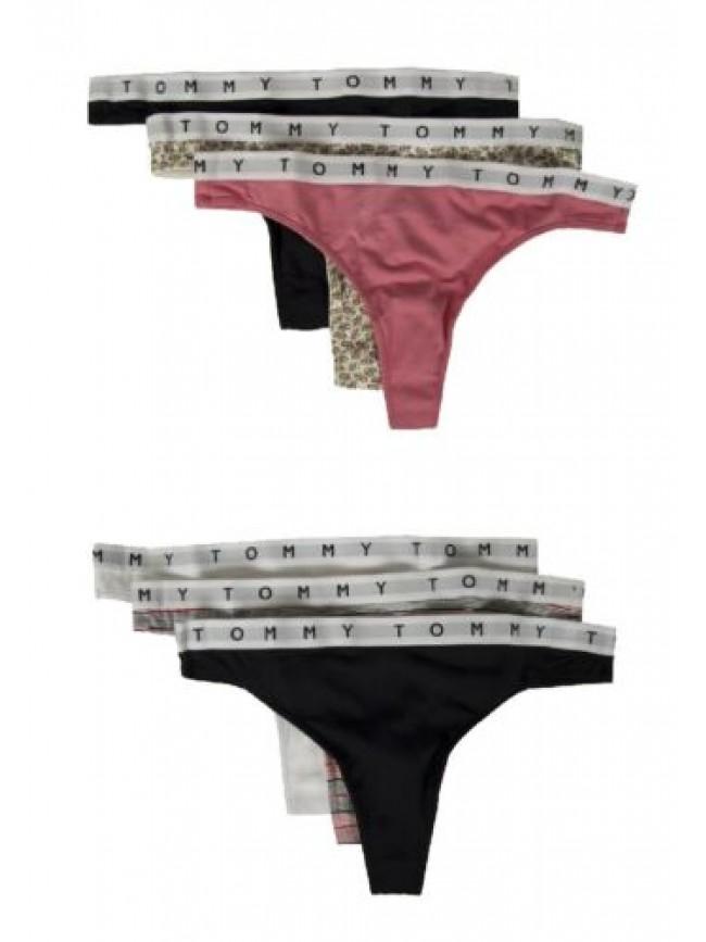 SG Confezione 3 perizoma donna elastico a vista slip tripack TOMMY HILFIGER arti