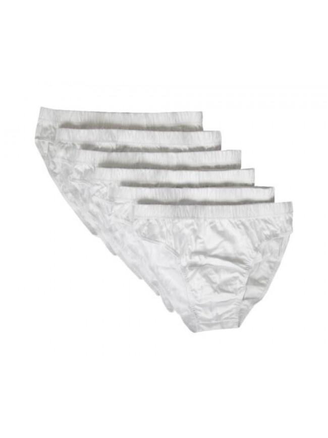 SG Confezione 6 slip uomo cotone mercerizzato NOTTINGHAM articolo GR6-3403 FIANC