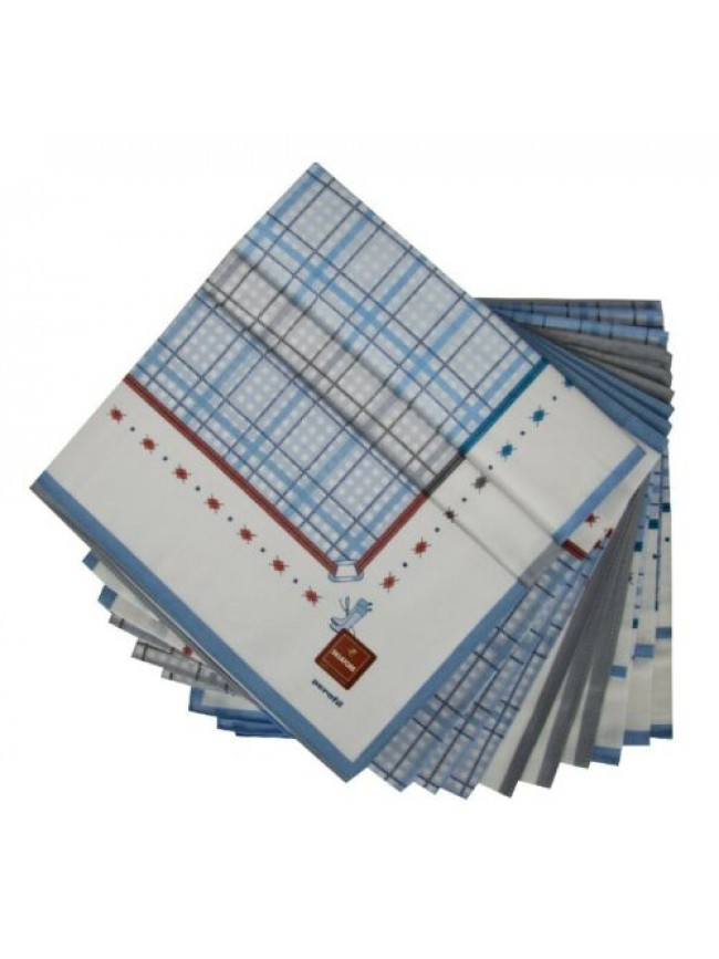 SG Confezione scatola 12 fazzoletti cm.45x45 SKIATORE PEROFIL articolo V037