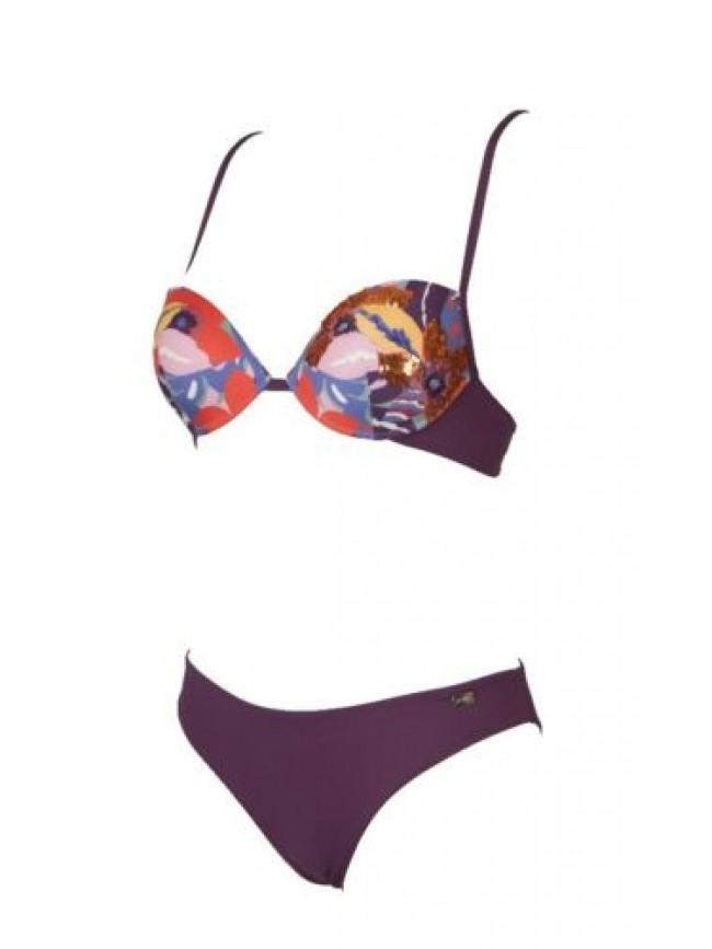 SG Costume bikini donna mare con ferretto coppe imbottite e slip EMPORIO ARMANI