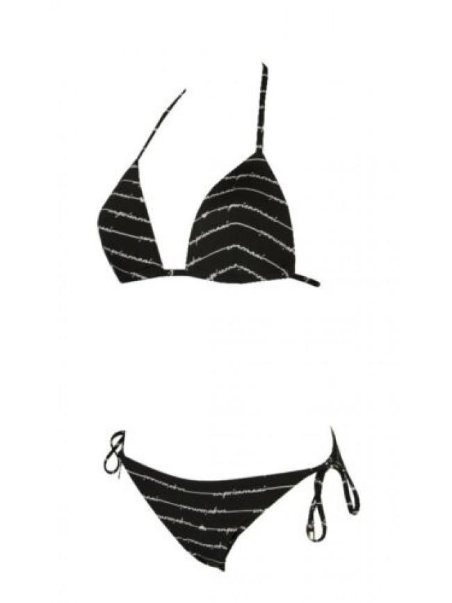 SG Costume bikini donna mare con ferretto coppe imbottite e slip regolabile EMPO