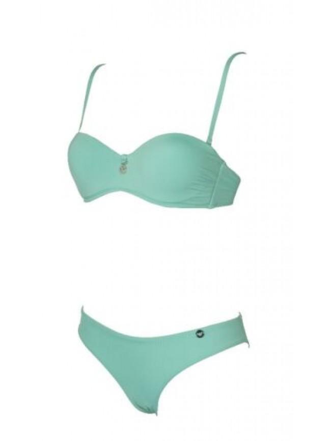 SG Costume bikini donna mare fascia imbottita lacci removibili e slip EMPORIO AR