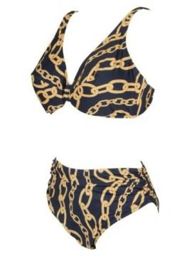 SG Costume bikini due pezzi donna senza ferretto triangolo imbottito RAGNO artic