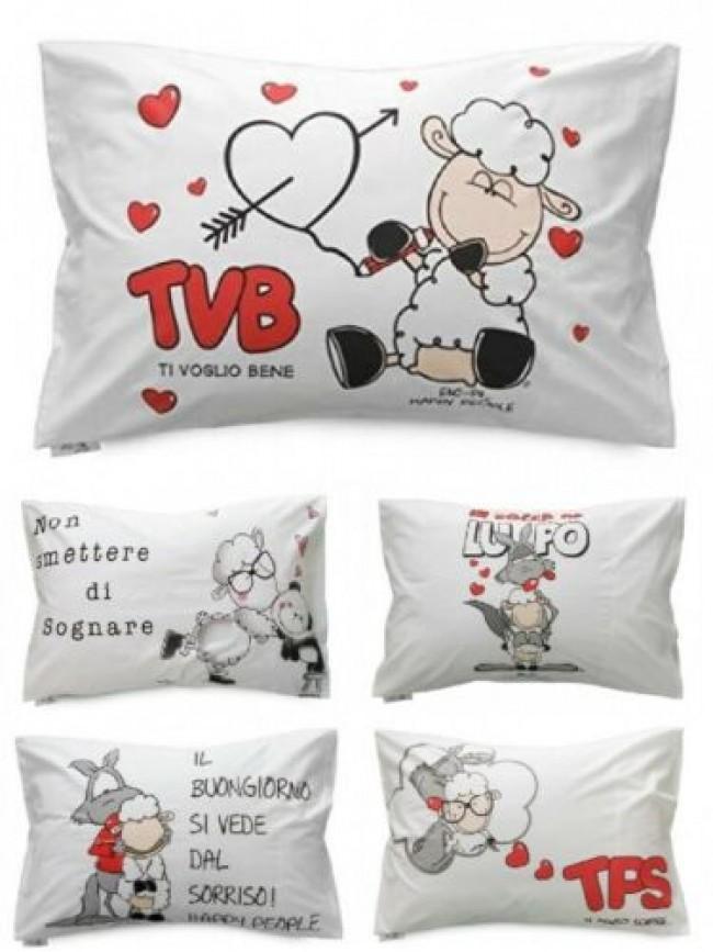 SG Federa singola per cuscino letto 50x80 cm. cotone HAPPY PEOPLE articolo NL296