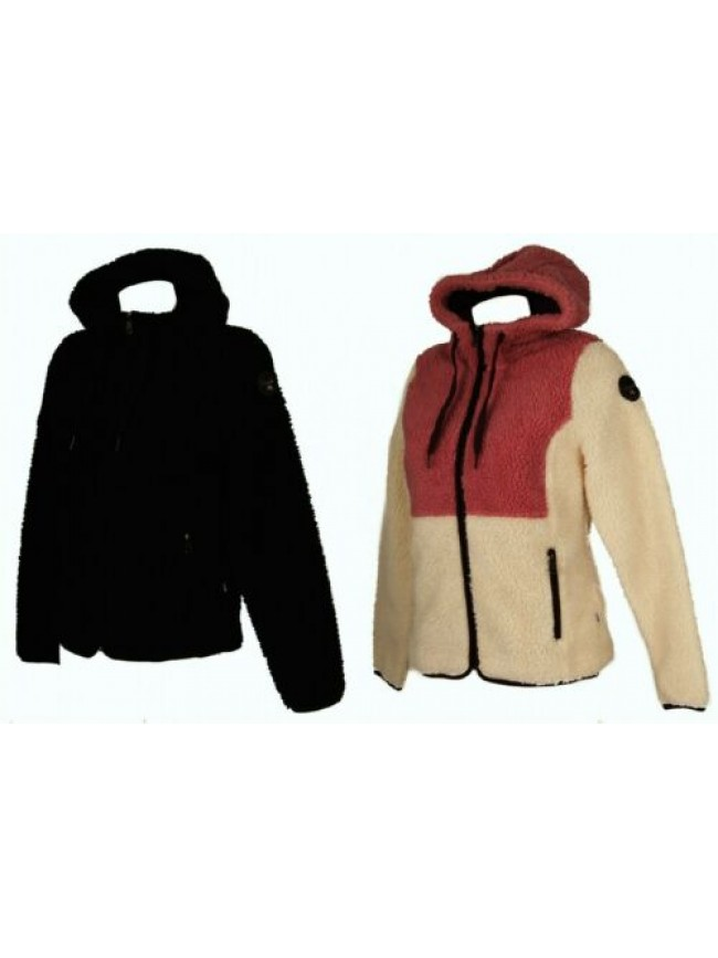 SG Giaccone giubbotto giacca felpa donna con cappuccio tasche e zip NAPAPIJRI ar