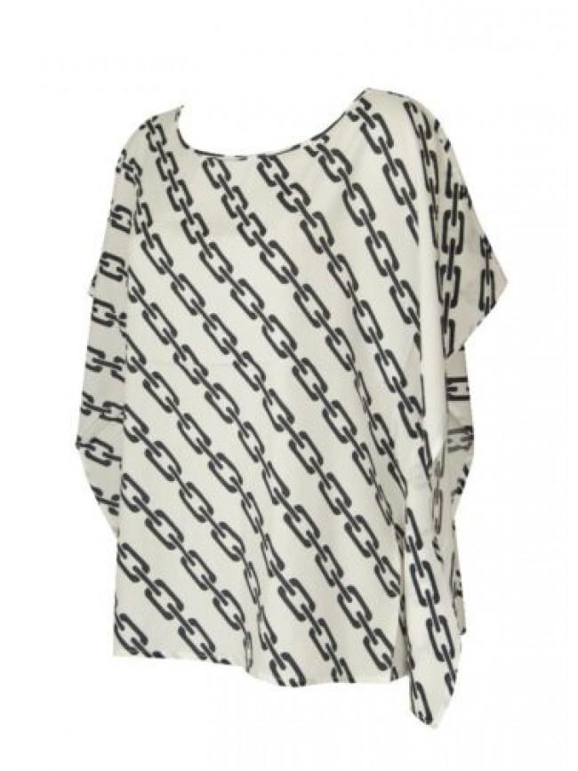 SG Maglia donna manica corta t-shirt kimono maglietta viscosa girocollo RAGNO ar