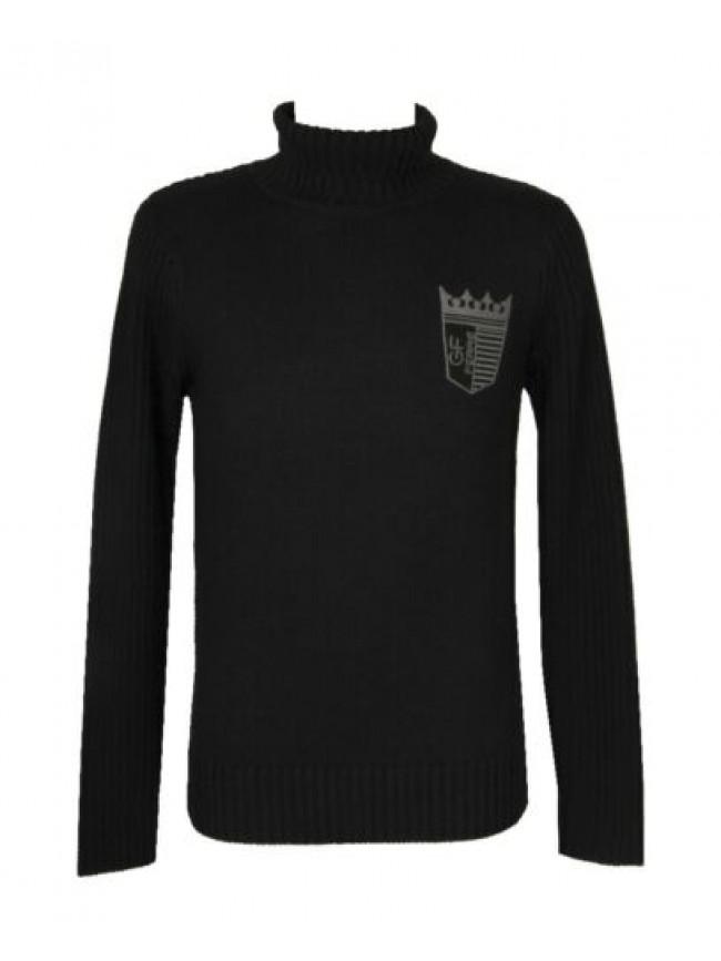 SG Maglia maglione pullover uomo lupetto manica lunga misto lana GF FERRE' artic