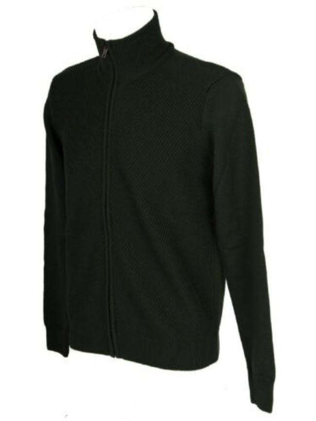 SG Maglia pullover uomo lana manica lunga collo alto aperto con zip RAGNO artico