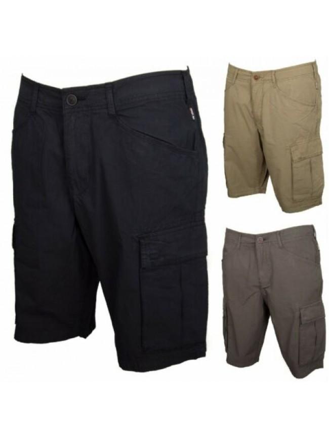 SG Pantalone bermuda uomo cotone con tasche NAPAPIJRI articolo N0YHF6 NOTO 1