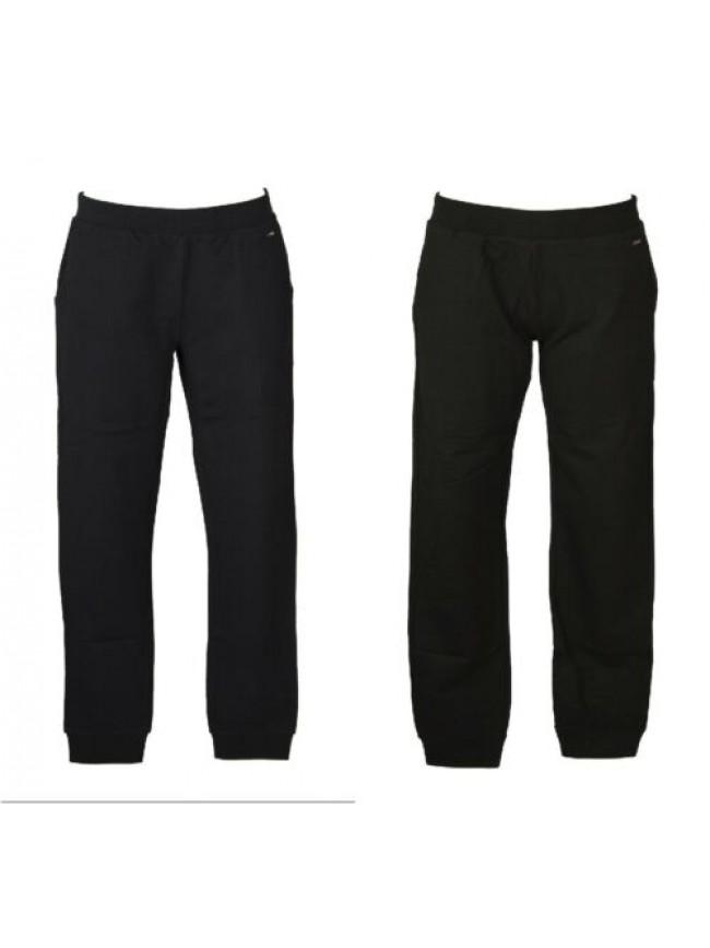 SG Pantalone donna cotone felpa stretch estivo con tasche e polsino comodo sport