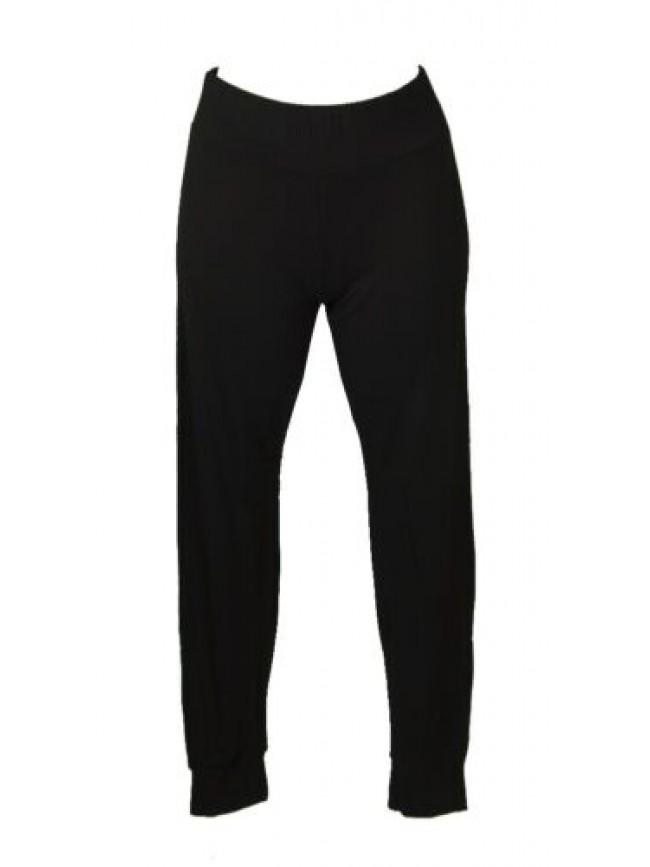 SG Pantalone lungo donna estivo linea morbida con elastico in vita e gamba con p
