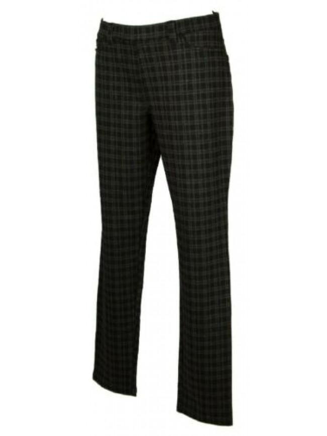 SG Pantalone lungo tempo libero pantaloni comfort effetto scozzese donna RAGNO a
