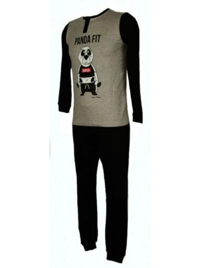 SG Pigiama bambino ragazzo cotone interlock manica lunga serafino sleepwear CRAZ