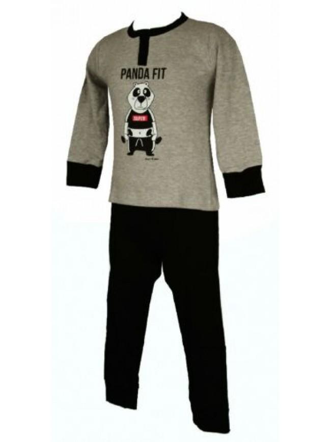 SG Pigiama bimbo bambino cotone interlock manica lunga collo serafino sleepwear