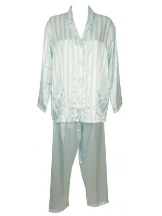 SG Pigiama donna manica lunga pantalone lungo aperto con bottoni LINCLALOR artic