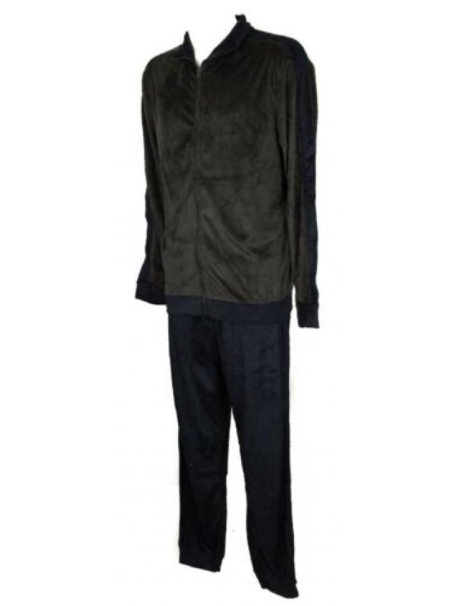 SG Pigiama uomo in morbido e caldo pile manica lunga aperto con zip RAGNO SPORT