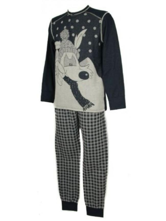 SG Pigiama uomo manica lunga collo serafino homewear sleepwear HAPPY PEOPLE arti